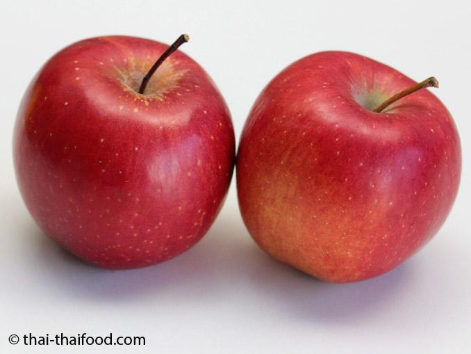 ผลสุกแอปเปิ้ลแดง