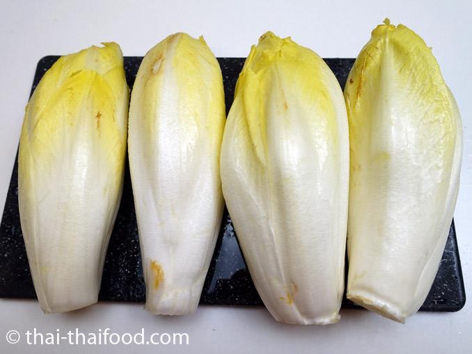 หัวปลีผักชิโครี่สีขาว