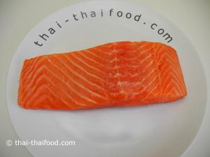 เตรียมปลาแซลมอน
