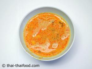 ส่วนผสมไข่ไก่น้ำพริกเผานมสด