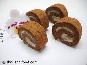 เค้กโรลช็อคโกแลตกล้วยหอม