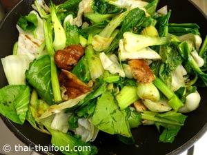 ผัดผักต่างๆพอสลด
