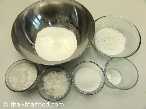 Zutaten für Kanom Fak Thong