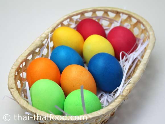 ไข่อีสเตอร์สีสันสวยงาม