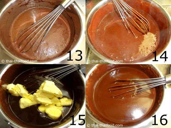 ทำส่วนผสมครีมช้อคโกแลตหน้านิ่มแต่งหน้าเค้ก