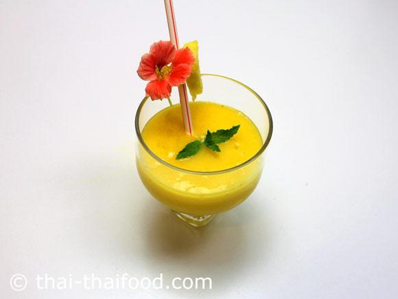 น้ำมะม่วงสับปะรดปั่น พร้อมดื่ม