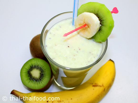 น้ำกีวีกล้วยโยเกิร์ตปั่น