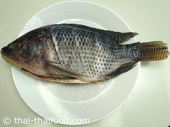 ทาเกลือให้ทั่วตัวปลา