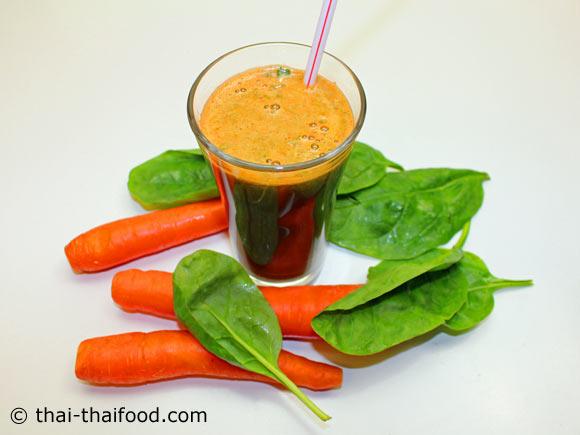 น้ำแครอทผักโขม