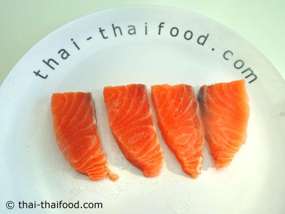 ปลาแซลมอนหั่น