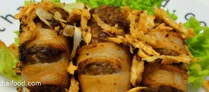 ปลาหมึกยัดไส้ทอดกระเทียม