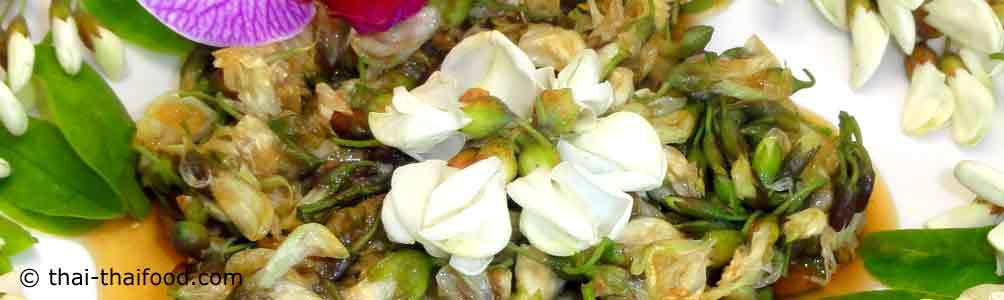 ดอกแบล็คโลครัทผัดน้ำมันหอย