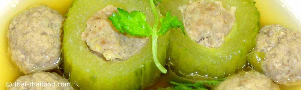 แกงจืดแตงกวายัดไส้หมูสับ