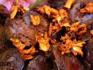 ตับไก่ทอดกระเทียมพริกไทย