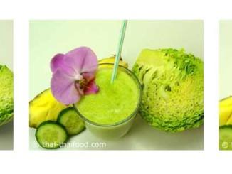 น้ำสับปะรดกะหล่ำปลีซาวอยปั่น