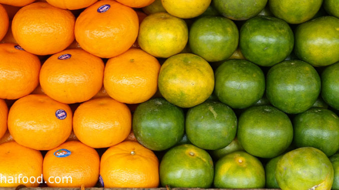 ส้ม (Orange) ส้มเป็นผลไม้ยอดนิยม มีหลายสายพันธุ์หลายชนิด