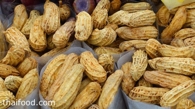 ถั่วลิสง (Peanut) เป็นพืชตระกูลถั่ว ผลเป็นฝักจะออกที่ใต้ดิน มีทรงกลมยาวมีลายเส้นชัดเจน เปลือกหนาแข็งเปราะสีน้ำตาล เมล็ดเรียงอยู่ภายในฝัก มีทรงกลมรี มีเยื่อบางหุ้มเมล็ด รสชาติหวานมัน