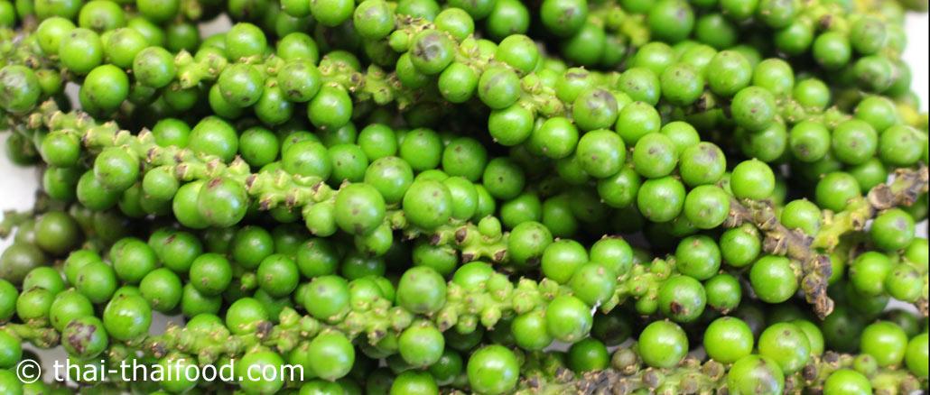 พริกไทยอ่อน (Young Green Peppercorns) เป็นเครื่องเทศชนิดหนึ่ง ผลเป็นพวง เมล็ดมีทรงกลมมีขนาดเล็กๆ ผลมีสีเขียว รสชาติเผ็ดร้อนกลิ่นหอมฉุน ใช้ผลสดนำมาประกอบอาหาร
