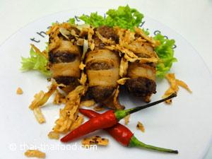 Thai Rezept Pla Muek Yud Sai Tod Kratiam